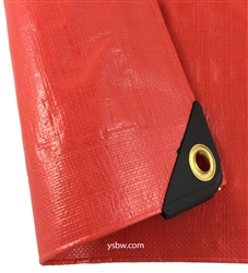 24x24 Red Heavy Duty Poly Tarp