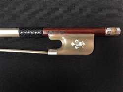 Cello Bow - Arcos Brasil Silver Fitted, Fleur de Lis