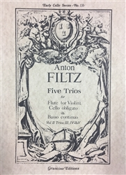 5 Trios for Flute (or Violin), Cello obligate, and Bass continuo (Vo. 2: Trios 3-5)