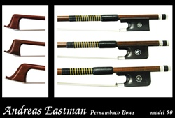 Violin Bow Model 90 Eastman Sterling Silver Pernambuco