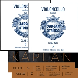 Cello String SetJargar A&D / Kaplan G&C