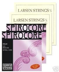 Cello String Set Larsen Solo Spirocore Tungsten