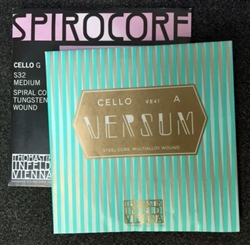 Spirocore Tungsten Versum String Set for Cello