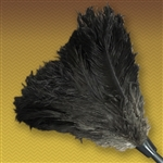 "18"" Black Feather Duster Replacement Head w/ Handle"