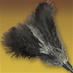 "18"" Gray Feather Duster Replacement Head w/ Handle"