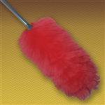 "44"" 2-section extension (built-in) wool duster. Colored Heads (Not white). Heavy-duty plastic handle.  (10"" head with 19"" long handle extends to 34""). Perfect for cleaning broad surfaces like walls and open desktops."
