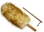 "Premium Australian Lambs Wool Duster Wand with Free Extender Pole (18"" to 28"")"
