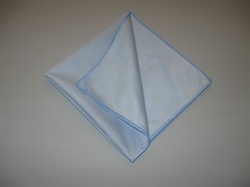 "16"" Blue Microfiber Window Cleaning Towels (5 Pack)"
