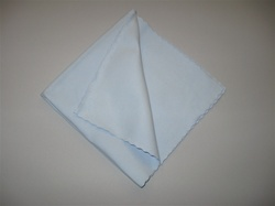 "16"" Blue Suede Microfiber Polishing Cloths (5 Pack)"