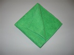 "12"" Green Microfiber Towel (5 Pack)"