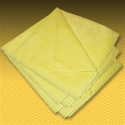 "12"" Yellow Microfiber Towel (5 Pack)"