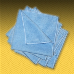 "16"" Blue Microfiber Towel (5 Pack)"