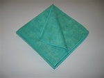 "16"" Green Microfiber Towel (5 Pack)"
