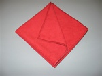 "16"" Red Microfiber Towel (5 Pack)"