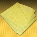 "16"" Yellow Microfiber Towel (5 Pack)"