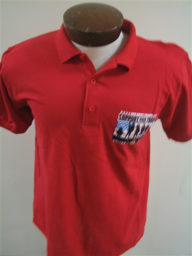 Best Red Friday Support Our Troops Polo Large VB01