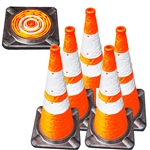"28"" Lighted Collapsible Traffic Cone - First Responder"