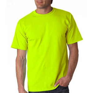 safety green t shirt made of cotton polyester. Black Bedroom Furniture Sets. Home Design Ideas