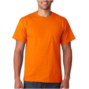 safety orange t shirt with pocket viewbrite safety products. Black Bedroom Furniture Sets. Home Design Ideas