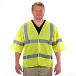 Class 3 Lime Safety Vest with Sleeves