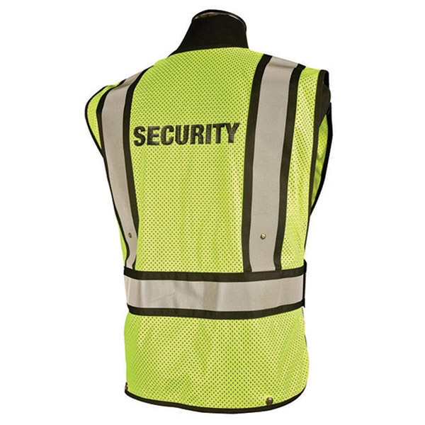 Security 5 Point Breakaway Lime Public Safety Vest - ViewBrite ... 50f9741d1a7