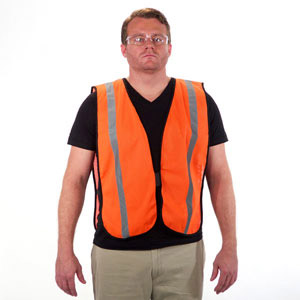Lightweight Reflective Safety Vest Orange