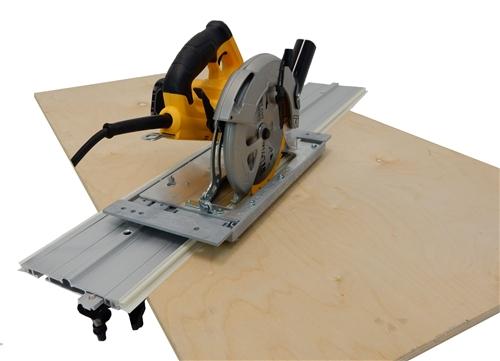 Accu-cut circular saw guide track system.