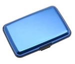 Aluminum RFID Charging Wallet Blue Atomic Charge As Seen on TV