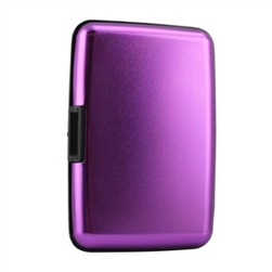 Aluminum RFID Charging Wallet Purple Atomic Charge As Seen on TV