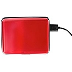 Aluminum RFID Charging Wallet Red Atomic Charge As Seen on TV