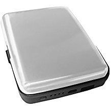 Aluminum RFID Charging Wallet Silver Atomic Charge As Seen on TV