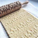 Christmas Embossed Wooden Rolling Pin