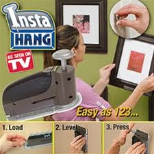 Instahang Picture Hanger Wall Peg Dispenser System As Seen On Tv