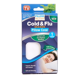 Pillow Active Cold and Flu Pillowcase menthol eucalyptus infused - As Seen on TV