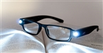 Rechargeable LED light reading glasses