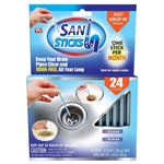 Sani Sticks drain clog cleaning as seen on tv