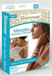 Shimmer Metallic Jewelry Temporary Tattoos