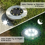 Solar Powered Disk Lights 4 pack As Seen on TV