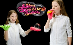 Ultra bouncing bubble juggle bubbles don't pop