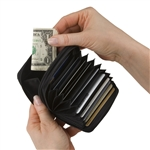 Leather Accordion Security Wallet