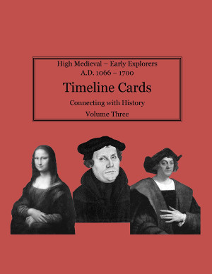 Timeline Card for Connecting with History Volume 3, Early Medieval and New Testament