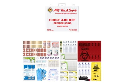 ABC MANITOBA FIRST AID KIT - INTERMEDIATE UNITIZED M02 - METAL CASE - CSA TYPE 3 MEDIUM