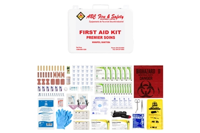 ABC MANITOBA FIRST AID KIT - INTERMEDIATE UNITIZED M36 - METAL CASE - CSA TYPE 3 SMALL