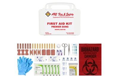 ABC MANITOBA FIRST AID KIT - PERSONAL - PLASTIC CASE - CSA TYPE 1