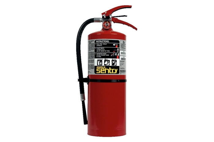 ANSUL SENTRY DRY CHEMICAL FIRE EXTINGUISHER - 10 LB. WITH WALL HOOK