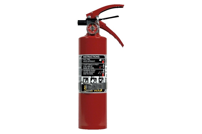 ANSUL SENTRY DRY CHEMICAL FIRE EXTINGUISHER - 2.5 LB. WITH VEHICLE BRACKET