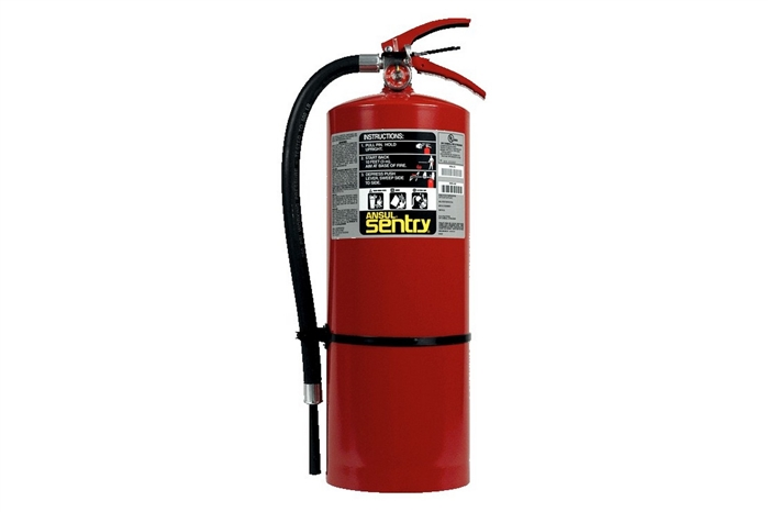 ANSUL SENTRY DRY CHEMICAL FIRE EXTINGUISHER - 20 LB. WITH WALL HOOK