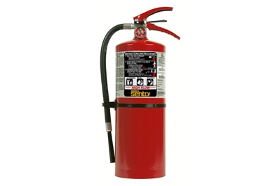 ANSUL SENTRY HIGH-FLOW DRY CHEMICAL ABC FIRE EXTINGUISHER - 10 LB. WITH WALL HOOK