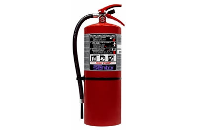 ANSUL SENTRY HIGH-FLOW DRY CHEMICAL PURPLE K FIRE EXTINGUISHER - 20 LB. WITH WALL HOOK