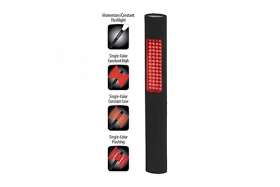 BAYCO NIGHTSTICK PRO 2-IN-1 FLASH/SAFETY LIGHT - RED LED